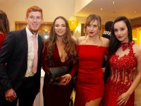 Simon Lorne, Olivera Ivkovic, Liridona Bunjaku and Elsa Cenaj at the IT Tralee Students Unio Ball on Wednesday night in the Ballyroe Heights Hotel. Photo by Dermot Crean