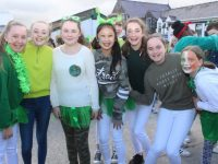 Pupils taking part in the Scoil Eoin St Patrick's Parade. Photo by Dermot Crean