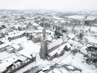 An aerial shot of St John's Church and surrounding area by Steve Turner.