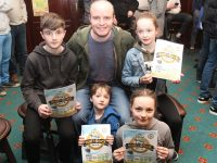 Niall Lucey with children Seamus, Tadhg, Hannah Mai and Ellen at the launch of the Paul Lucey Memorial Run on Monday night. Photo by Dermot Crean