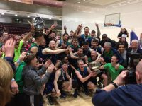 Garvey's Tralee Warriors celebrate their Champions Trophy victory.