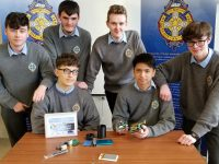 The CBS The Green team who are aiming to win the National CanSat Final this week.