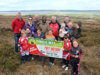 A group of St Pat's GAA members launching the Dingle Way Challenge up in Tonevane on Saturday. Photo by Dermot Crean