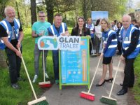 Members of the Environmental Task Force Thomas O'Connor, Shane O'Connor, Brian Stephenson, Susan Vickers, Martha Farrell and President of Tralee Chamber Alliance Aidan Kelly, at the launch of GLAN in the Town Park on Monday afternoon. Photo by Dermot Crean