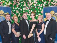 Garda Johnny Quinlan , Siobhan Quinlan , Garda Tommy Brosnan, Siobhan Brosnan, Laura Fleming, Sergeant Mike Fleming at the Kerry Garda Division Black Tie Ball on Friday in the Killarney Oaks Hotel.