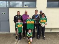 Presentation of Jerseys to the U12 team. Included in the photo is Eoin Callaghan Casey Stephenson accountants, Denis Fitzgerald Chairperson of the Juvenile Section, Jimmy Kelliher Casey Stephenson Accountants, Mark McEvoy Juvenile Mentor.