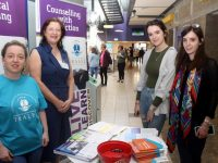 Megan O'Sullivan and Geraldine Harnett, Head of Dept of Nursing at ITT with Elaine and Fiona Reilly the IT Tralee Spring Open Day on Saturday. Photo by Dermot Crean
