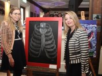 Artist Elisha Buckley with Elaine Costello at the Kerry College of Further Education students' 'The Pursuit Of Artyness' exhibition at The Ashe Hotel on Friday night. Photo by Dermot Crean