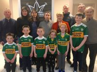 At the launch of the Kevin Casey Award 2018 were, back row from left: Terrace Talk's Tim Moynihan, Marguerite Casey (Kevin's Wife), Majella O' Connell (Kevin's sister), Martin Casey (Kevin's brother), Mary Casey (Kevin's mother), James O Connor, Adrian O Sullivan, Paddy Casey (Kevin's father). Front Row: Kevin's three sons, James, Mark & Paul Casey, nieces Maria & Meath O'Connell and nephew Liam O Connell.