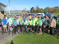 The group of cyclist ready for the off the Na Gaeil GAA Club annual cycle on Saturday morning. Photo by Dermot Crean