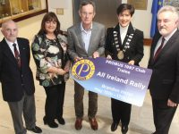 Looking forward to the PROBUS event in Tralee next month were Liam Sayers, Kay Lewis Dick Spring, Mayor of Tralee Norma Foley and Charles Lewis of Audiology Medical Services. Photo by Dermot Crean