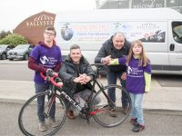 Pictured Left to Right: Yann O'Carroll, Nathan McDonnell, Ballyseedy Home and Garden Centre, Kevin Donovan, Down Syndrome Ireland (DSI) Kerry and Amber Donovan pictured at the recent launch of The Unsung Hero charity cycle 2018. www.facebook.com/unsungherocycle2018/