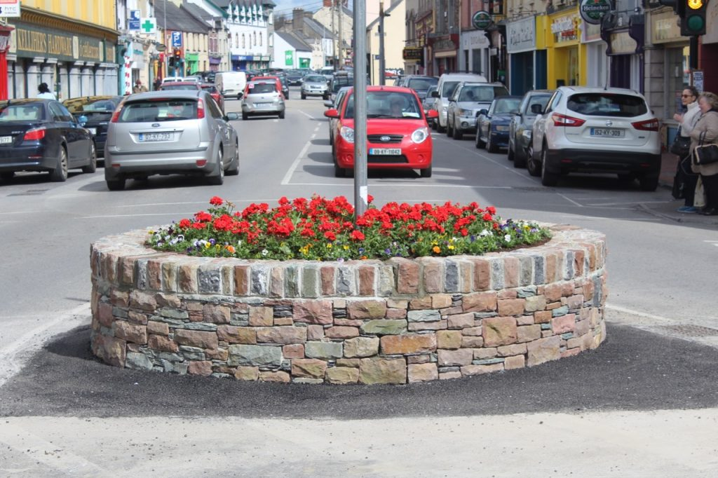 The New Flower Bed At The Bottom Of Rock Street. Photo By Dermot Crean