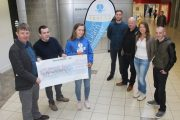 At the presentation of a cheque to the St Vincent de Paul Education Fund were Junior Locke and Paddy Kevane of St Vincent de Paul with members of the IT Tralee St Vincent de Paul Society Triona Clifford,Steven Healy, Aidan Kiely (PRO), Niamh Blackburn and Ruairí Fry. Photo by Dermot Crean
