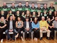 The contestants, judges and organising committee of Churchill GAA Lip Sing Battle. Photo by Dermot Crean