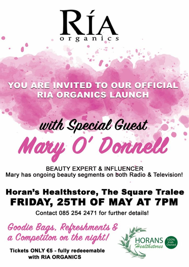 Mary O'Donnell To Help Launch Skincare Range At Horan's Healthstore