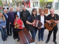 Launching the Music Day in aid of the Donal Walsh Livelife Foundation and Tralee Rugby Club were front from left; Margaret Mansfield, Elma Walsh and Joe O'Connor. Back from left; Pamela O'Connor, Jim O'Connor, Dave Buckley, Aidan Kelly, Willie Kelly. Seated; Kathleen McDonagh. Photo by Dermot Crean