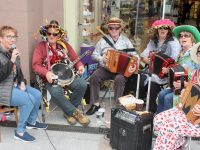 Musicians at the Donal Walsh music day in town on Saturday. Photo by Dermot Crean