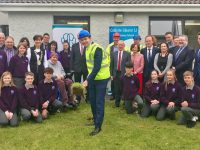 Minister Brendan Griffin turns the sod on the new extension for Coláiste Gleann Lí.