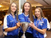 Under 16 team members Rebecca Conway, Mary O'Connell and Rachel Kilgallen at the Tralee Imperials awards night in The Rose Hotel on Thursday night. Photo by Dermot Crean