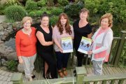 Launching the walk in memory of Jamie Wrenn and Mike Dean were Maureen O'Brien, Marisa Reidy, Mary Lynch and Marian Barnes. Photo by Dermot Crean