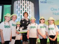 Pupils from Scoil Naomh Eirc at the SEAI One Good Idea National Finals in Dublin.