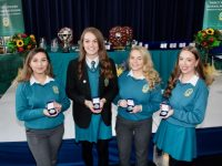 Riadh Malik, Lauren O'Grady, Lauren Barrett and Orla O'Riordan at the Mercy Mounthawk annual awards on Thursday evening. Photo by Dermot Crean