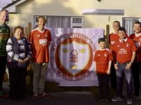 Liam Hassett and Sheila Kelliher, Ard  Aileann Mental Health Centre Committee  and members of the Nottingham Forest Munster Supporters Club Branch at the launch of their Charity Dinner in Killorglin on June  9th.