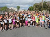 The large group gathers at the start for the 10K & 5K Paul Lucey Memorial Run/Walk 'Run for the Rock' on Monday morning. Photo by Dermot Crean