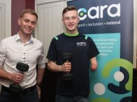 Joe O'Connor and Jordan Lee at the Cara Sports Quiz in O'Donnell's, Mounthawk, on Thursday night. Photo by Dermot Crean