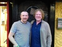 Local musician Danny Goggin and Simply Red's Mick Hucknall.