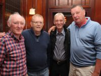 Sean Reidy, Ger O'Mahony, Patrick Knowles and Colm Sheehy at the Celtic Basketball Club function on Friday night in The Grand Hotel. Photo by Dermot Crean