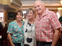 Host Fiona Kirby (centre) with Adah Cotter and Seamus McEntee at an evening to welcome 'The Arrival Of Summer' at Kirby's Brogue Inn on Tuesday night. Photo by Dermot Crean