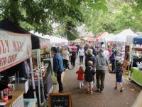 The food and craft village is proving popular again.