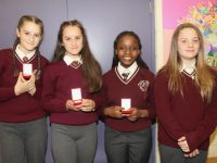 Holy Family sixth class pupils at graduation night on Wednesday. Photo by Dermot Crean