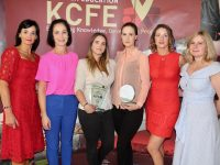 Principal of KCFE Mary Lucey, Brenda McEvoy, award winners Annie Burke (Achievement), Bogumila Gedrzejwska (Beauty Therapy), Linda O'Shea Dowling and Mandy O'Sullivan, Flair Hair and Beauty at the Kerry College of Further Education Awards on Thursday evening. Photo by Dermot Crean