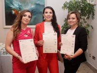 Lorraine O'Sullivan, Rebecca Bentley and Jolanta Dziewa who all qualified in Hairdressing at the Kerry ETB awards in The Rose Hotel on Thursday evening. Photo by Dermot Crean