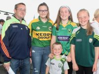 John O'Connell, Amy O'Connell, Paula Rogers, Chloe Quillinan and in front, Adam Patrick O'Connell at the Kerry GAA 'Night of Champions' at Kingdom Greyhound Stadium on Friday night. Photo by Dermot Crean