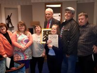 Members of the Inspired Group meeting the Minister for Disabilities and Social Affairs in Dail Eireann recently.