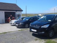 Cars parked in front of Banna Rescue on Monday.