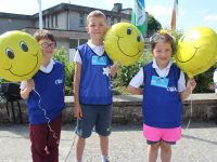 Moyderwell Mercy pupils getting ready to take part in the 'Walk A Mile With A Smile' for 'Be Active Week'. Photo by Dermot Crean