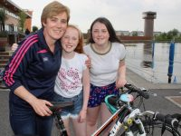 Susan, Róisín and Ciara Sugrue at the 'Pedal In The Park' from Tralee Bay Wetlands on Friday evening. Photo by Dermot Crean