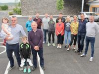 Launching the Robert O'Dowd Memorial 5k/10k Walk/Run at the Palliative Care Unit on Monday night were, front from left; Eoin Kelliher with daughter Olivia, and Joe Hennebery. Back from left; Andrea O'Donoghue, Ger Dennehy, Martin Dennehy, Matt Moloney, Eamonn Fitzmaurice, Mary Shanahan, Ciara O'Dowd, Maura Sullivan, Diarmuid Cunnane and Dave Leahy. Photo by Dermot Crean