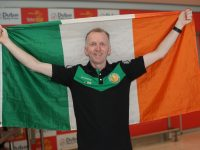 Stephen Byrne from Tralee returning home after the games.
