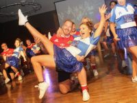 Contestants participating in the opening dance at the Tralee Rugby Club's 'Strictly Come Dancing' event in the Ballyroe Heights Hotel on Friday night. Photo by Dermot Crean