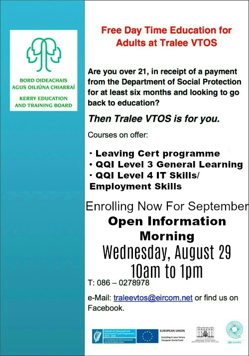 Learn More About Tralee VTOS Courses At Information Morning