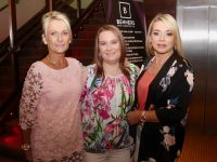Becky Casey (centre) with with work colleagues from Foley's SPAR on the Castlemaine Road, Therese O'Brien and Michelle Lynch at her leaving party at Benner's Hotel on Saturday night. Photo by Dermot Crean