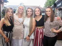 Mary Lyne, Noreen Quirke, Michaela Horan, Ciara Dolan and Christine Lawlor at the CH Chemists staff summer party at Benner's Hotel on Saturday night. Photo by Dermot Crean