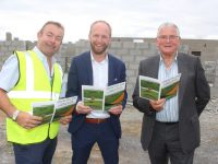 Edward Dowling of Parkway Construction with Ger Carmody and Dermot Crowley of Churchill Pearse Brothers GAA Club at the site of the new dressing rooms complex. Photo by Dermot Crean