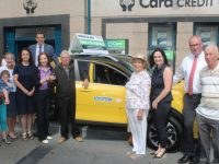 Matthew Picks Up Keys Of New Car Won In Cara Credit Union Draw